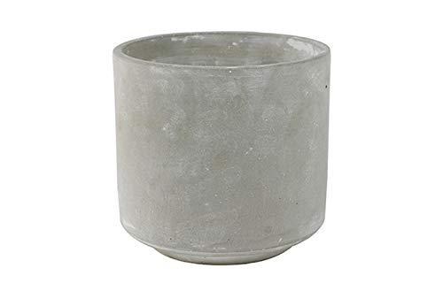 Ivyline Tivoli Zement-Blumentopf, Übertopf für Innenbereiche, 16 cm, traditionelles rustikales Design