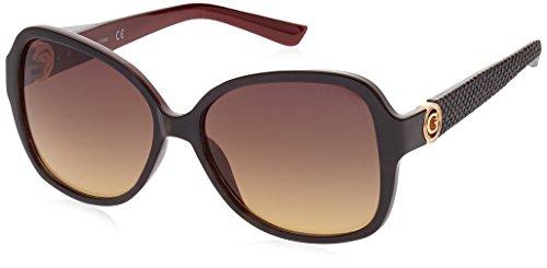Guess Damen GF0275_52F Sonnenbrille, Schwarz (Nero/rosso), 58