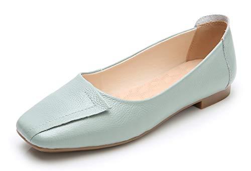 VenusCelia Women's Plain Dance Flat Shoe (8 M US,PaleTurquoise)
