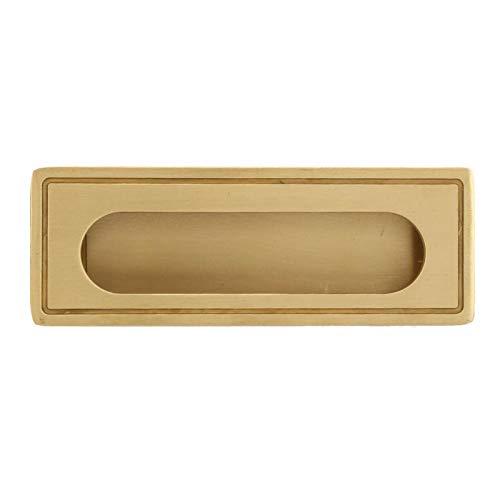 Tratamiento de acristalamiento de alta temperatura Manija de pulido de material de latón Manija de puerta corrediza para puerta corrediza