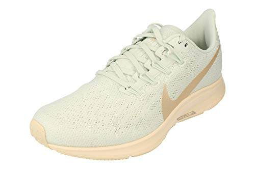 Nike Wmns Nike Air Zoom Pegasus 36, Women's Track & Field Shoes, Multicolour (Ghost Aqua/Light Cream/Sail 400), 9.5 UK (44.5 EU)