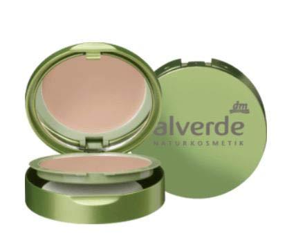 Kompakt Make-up - Grundierung - Naturkosmetik - Mit hoher Deckkraft - Angereichert mit pflegendem Bienenwachs und Seidenproteinen - Honig-gold 020 -