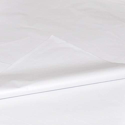 bag it Plastics White Tissue Paper 18' x 28' / 450mm x 700mm - Pack of 100