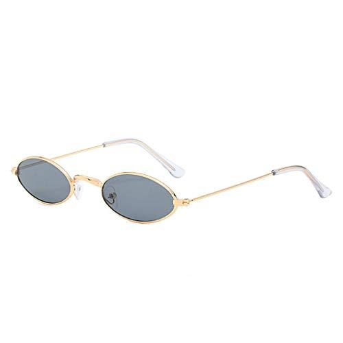 Wobang - Gafas de sol unisex de moda vintage, pequeñas, ovaladas, pequeñas, vintage, elegantes gafas redondas para mujeres, niñas y hombres 706 Talla única