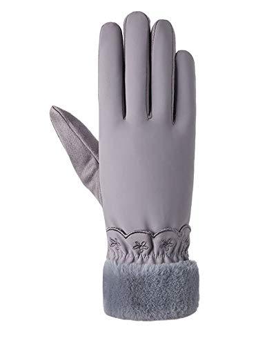 Guantes de invierno para mujer Elegantes y cómodas Cálido Guantes de pantalla táctil para montar a caballo, ciclismo 14