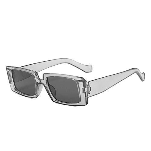 ZZOW Gafas De Sol Rectangulares De Moda para Mujer, Gafas De Sol Grises con Espejo Vintage para Hombre, Gafas De Sol Cuadradas De Leopardo Verde Oscuro, Sombras Uv400