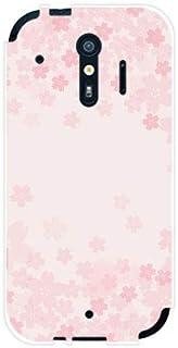 スマホケース らくらくスマートフォン me F-01L ラクラクスマートフォン エムイー 対応 docomo TPU ソフト カバー ケース ギフト プレゼント 桜(type001)