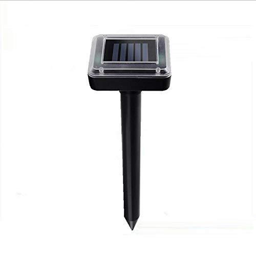 Lixada Répulsif à Ultrasons Solaire Solar Mole Repellent Ultrasonic Pest Rodent Repellent Solar Powered Gopher Waterproof Rainproof for Lawn Garden Yards