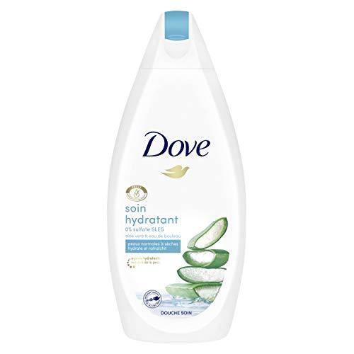 Dove Gel Douche Soin Hydratant, Peaux sensibles, Aloe Vera, nutrition longue durée, testé dermatologiquement, 750ml