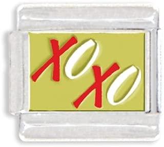 XOXO Hugs & Kisses Italian Charm Bracelet Link