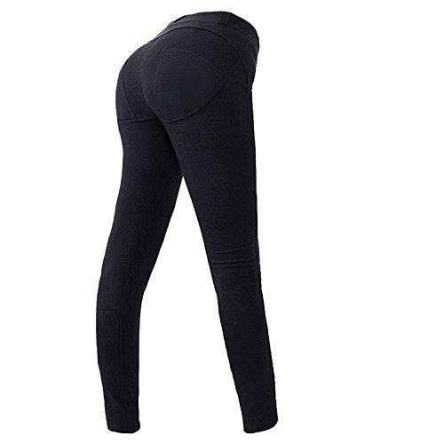 Elegante STAFFA Bikini con e arricciature in Nero-Tg 36//70 B-q3786-970183