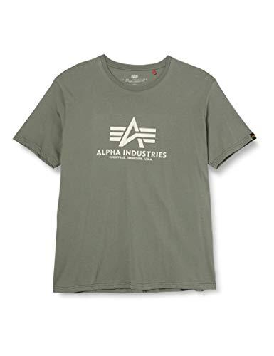 ALPHA INDUSTRIES Herren Basic T-Shirt, Grün, 3XL