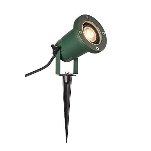 SLV Nautilus XL Projecteur LED, avec piquet, lampe d'extérieur, pour éclairage de jardin, de terrasse, de plantes, de chemins, d'étang, IP65, GU10, câble de 1,5 m avec fiche, en aluminium