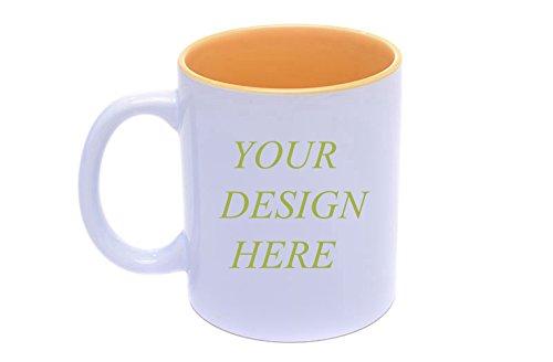 Personalized White Custom Mug 11 oz Porcelain Customizable Coffee Mugs and Tea Cups