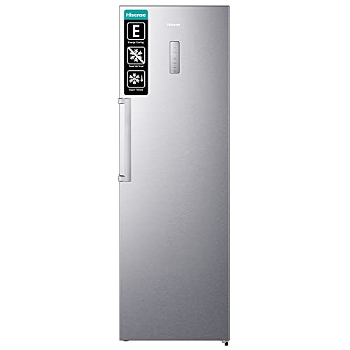 Hisense RL481N4BIE Kühlschrank/ FreshZone/ SuperCool/ HolidayMode/ Multiflow 360°/ BigBox/ LED Display/ 185,5 cm/ 370 l/ 40 dB/ 143 kWh/ Jahr/ Inox-Look
