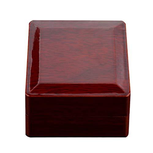 Bonarty - Caja de regalo para anillos de madera de palisandro, 1,8 x 1,8 x 2,6 pulgadas