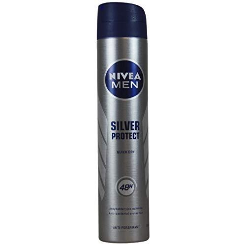 PARAFARM Nivea Desodorante Spray 200 ML. Men Silver Protect, Neutro, Estándar