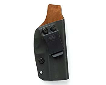 Gears and Barrels - H&K VP9 Holster Kydex Leather Interior Adjustable Right Hand Draw IWB Belt Holster Inside Waistband Concealed Carry Holster