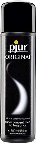 pjur ORIGINAL - Lubricante de silicona Premium - lubricación duradera sin pegarse - cunde mucho, adecuado para preservativos (500ml)