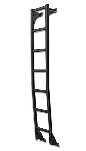 Prime Design AAL Rear Van Door Hook Access Ladder Black (no Drilling) (Compatible with Mercedes Sprinter 2007 and Newer w/High Roof)