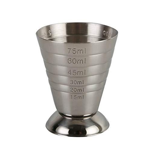 Aiming Messschuss Cup Ounce Jigger Bar Cocktail Drink Mixer Alkohol-Messbecher Vermesser Milchkaffeetasse Edelstahl