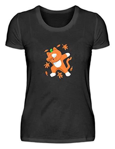 Generieke Dabbing kat met pompoen hoofd Cat Pumpkin Halloween - eenvoudig en grappig ontwerp - Damesshirt