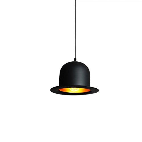 Lámpara de techo moderna a techo, sombrero con forma de sombrero de techo con forma de techo lámpara Max. 60W con cable ajustable, aluminio y pashm Finito