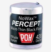 POH Dental Floss Percept 420 Black NoWax 100 Yard