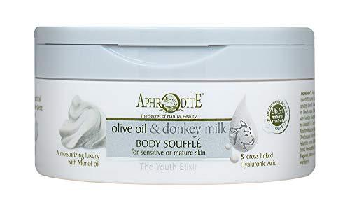 Soufflé pour le corps élixir jeunesse APHRODITE. Hydratant pour le corps au lait d'ânesse pour restaurer l'hydratation et prendre soin de la peau (200 ml)