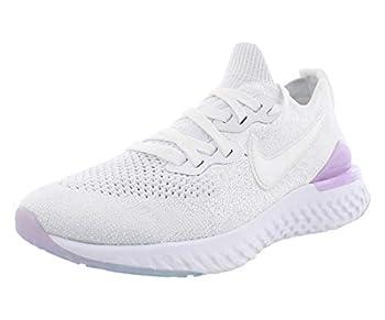 Nike Women s Epic React Flyknit 2 Running Shoe  9 White/Pink/Black