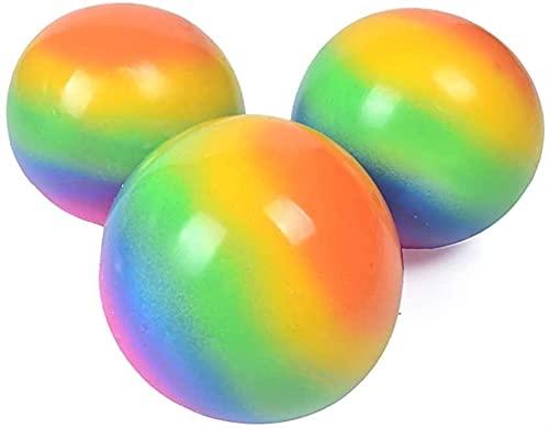 Globbles Bolas pegajosas Fidget Juguete, Bolas de pared pegajosas luminiscentes, Bolas de alivio de estrés Juguete de compresión, para bolas pegajosas Las bolas de techo oscuro de los juguetes educati