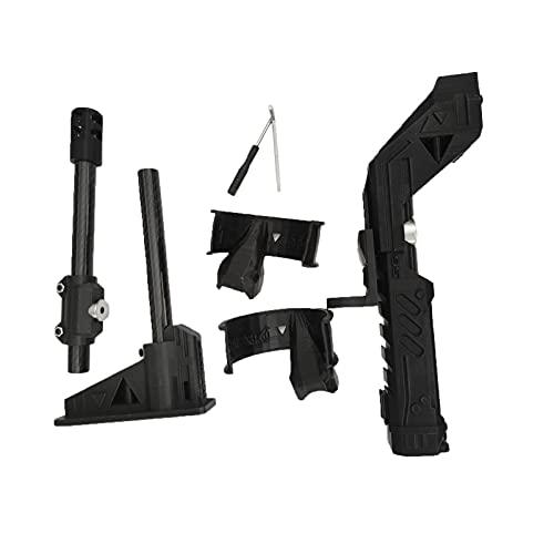 Adaptador Del Rifle Del Palillo Del Regulador De VR, Gamepad Magnético Del Tiro, Tenedor Del Extremo Para El Apretón Del Juego VR De La Fibra De Carbono De Quest 2