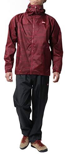 [エドウィン] レインウェア 上下セット レインコート レインスーツ 防水 自転車 通勤 通学 アウトドア 父の日 ギフト 雨具 撥水 レッド L