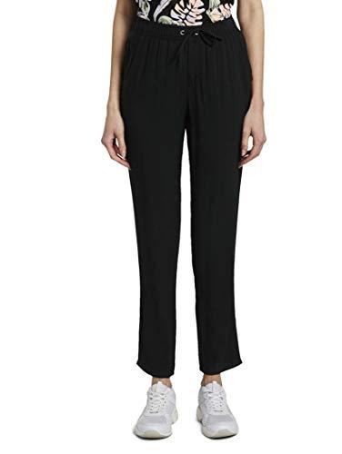 Preisvergleich Produktbild TOM TAILOR Denim Damen Hosen & Chino Tapered Harem-Hose Deep Black, XL