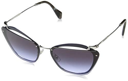 MIU MIU dames 0Mu54Ts Ue62F0 64 zonnebril, blauw (luet/violetgrijs)