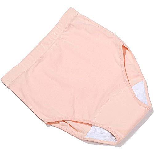 Slipje Wasbare urine-incontinentie Ondergoed voor vrouwen met een handicap - Doekluier Menstruatiecyclus, post partum bloeden en incontinentie,Pink,XXXL