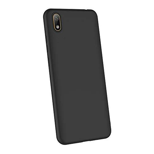 AICEK Compatible Huawei Y5 2019 Hülle, Schwarz Silikon Schutzhülle für Huawei Y5 2019 Case TPU Bumper Huawei Y5 2019 Handyhülle (5,71 Zoll) - 5