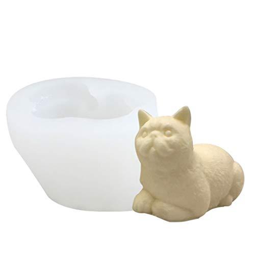 ColourQ - Molde de silicona para aromaterapia, diseño de gatos en 3D