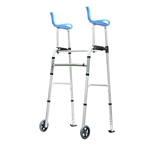 Read About ZHUXIN Multi-Functional Walker, Foldable Detachable Armrests and Wheels, Suitable for Dis...