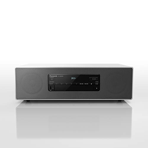 Panasonic SC-DM504EG-W Micro HiFi System in weiß (40 Watt RMS, Digitalradio DAB+, CD, UKW Radio, Bluetooth, USB, AUX)