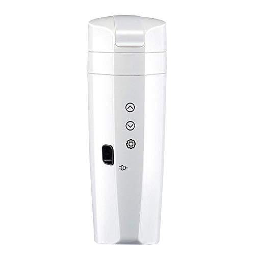 PIANYIHUO HervidorTaza de calentamiento de coche de acero inoxidable de 300 ml, 12 V / 24 V, taza de agua eléctrica con pantalla, hervidor de temperatura, café, té, leche, hervidor de agua
