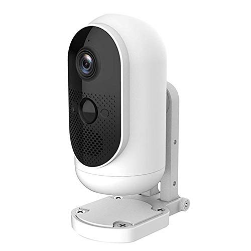 GT-LYD Camara Vigilancia Bebe 1080P Cámaras WiFi Batería Inalámbrica De Interiores, La Visión Nocturna, De Intercomunicación A Distancia, Detección De Movimiento,Blanco