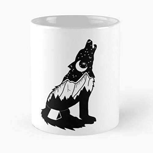 Howling Wolf Classic Mug - Unique Gift Ideas for Her from Daughter Or Son Cool Novelty Cups 11 Oz.