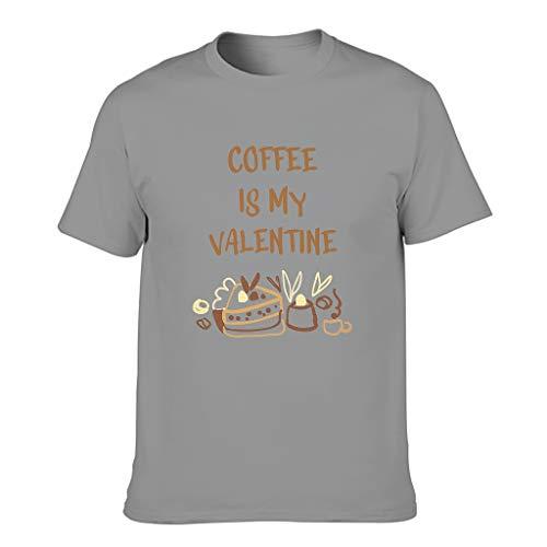 Camiseta de algodón para hombre Coffee is My Valentine divertido estilo elegante Tops