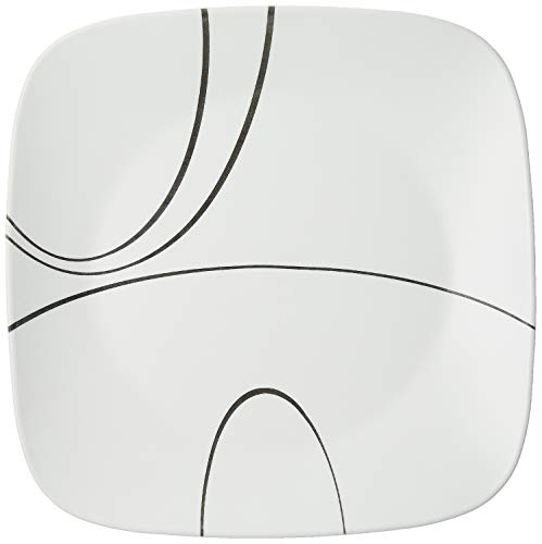 Corelle Square Simple Lines 10-1/2-Inch Plate Set (6-Piece)