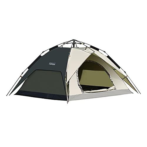 テント Vansupa ワンタッチテント キャンプ テント 2~4人用 設営簡単 コンパクト 軽量 テント uvカット加工 紫外線防止防風防水 テント ソロ テント (ワンタッチテントブラック)