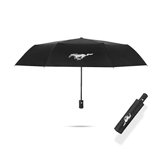 Krada 1x Regenschirm für Ford Mustang GT Faltbare UV Sonnenschirm Winddicht wasserdichte Regenschirm Autozubehör CTRGSM (Color Name : for Mustang)