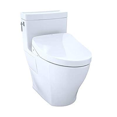 WASHLET+ Aimes One-Piece Elongated 1.28 GPF Toilet and Contemporary WASHLET