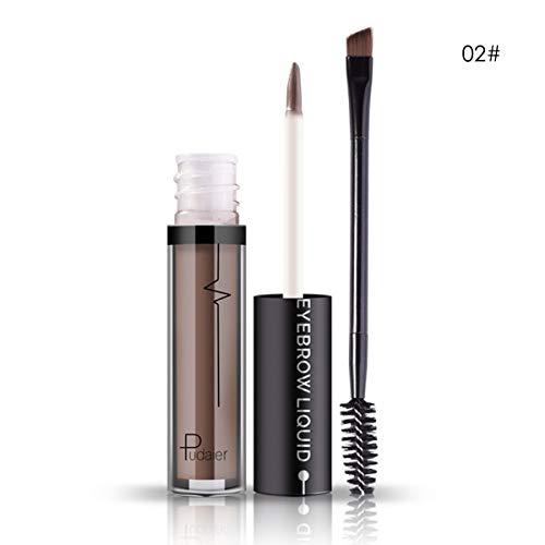 Teinture pour les sourcils Sourcils Conique Spirale Oeil Brash Étanche Hydratant Nourrissant Rich Couleur Pâte De Maquillage (Color : 02#)