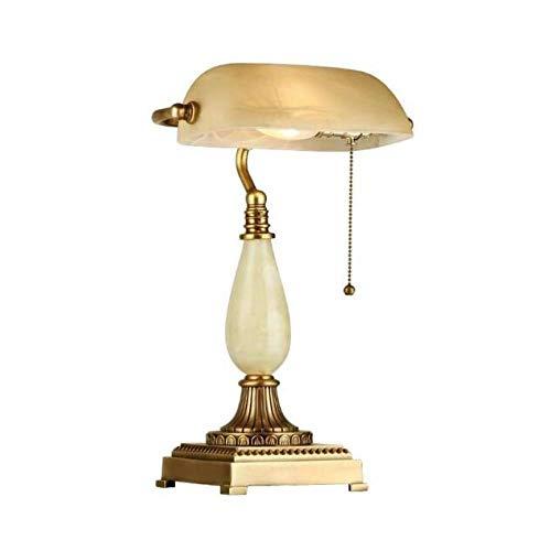 QHY Tischlampe, Neben Dem Modernen Wohnzimmer Bett Republik China Alte Shanghai Lampe, Studie Leselampe, Kreative Kupferlampe,Bildfarbe,A
